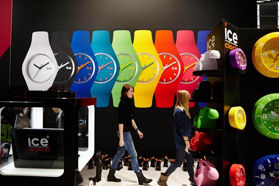 INHORGENTA MUNICH 2013, зала A1, albu.con GmbH, ice-watch – © Messe München GmbH