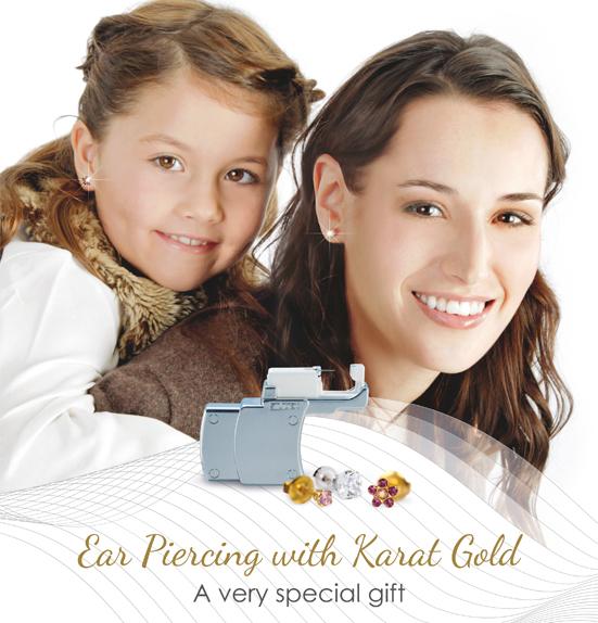 Идея за подарък: Пробиване на уши с обеци от чисто злато