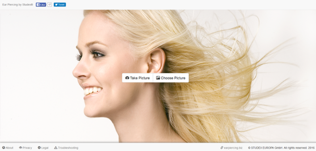 The Studex Ear Piercing App: html version for PCs
